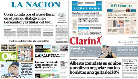 Alberto Fernández habló con el FMI y copó las tapas de los diarios argentinos
