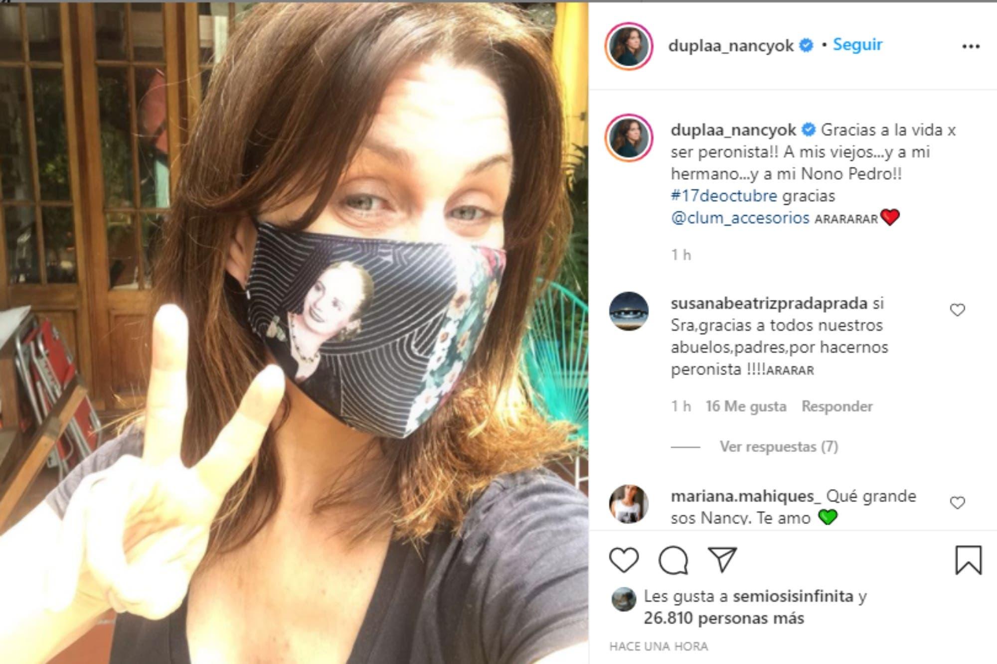 17 de octubre: los mensajes de Nancy Dupláa, Florencia Peña y otros famosos por el Día de la Lealtad