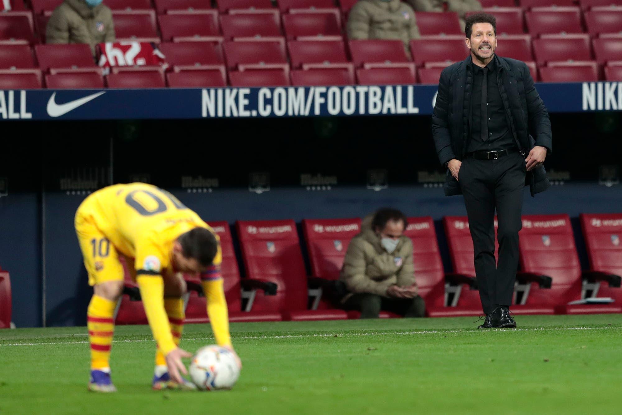 Atlético de Madrid-Barcelona: el equipo de Diego Simeone le ganó a un Lionel Messi errático y sin gambeta