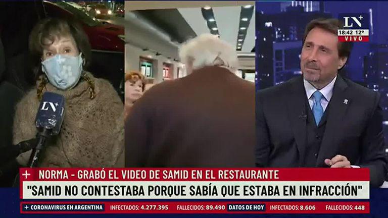 """la-mujer-que-increpo-a-alberto-samid:-""""se-fue-sin-pagar,-la-moza-lo-corrio-hasta-la-esquina"""""""